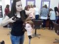 Fryzjerskie zajęcia praktyczne dla gimnazjalistów