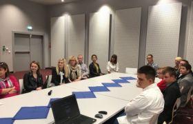 Wizyta zwycięskiej drużyny ZSP nr 2 w Jarocinie  w Urzędzie Marszałkowskim w Poznaniu